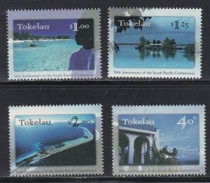 Tokelau # 243-246, South Pacific Commission 50th Anniversary, NH, 1/2 Cat.