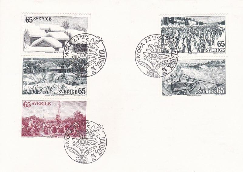 Sweden 1973 Tourism in Dalecarlia FDC Unadressed with insert VGC