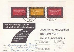 Netherlands 1966 Bergen Cancels National Act Illustration Stamps Card Ref 45513