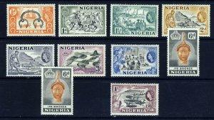 NIGERIA Queen Elizabeth II 1953-58 Pictorial Set to 1/- SG 69 to SG 76 MINT