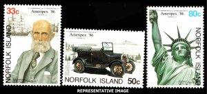 Norfolk Islands Scott 382-384 Mint never hinged.