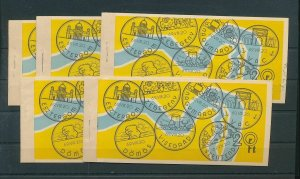 HUNGARY 1969 Booklets Used x 5 (Ad 1072