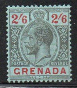 Grenada Sc 109 1929 2/6d G V black & red stamp mint