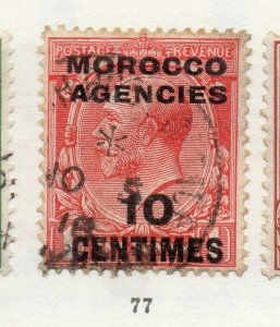 Morocco Agencies 1920s-30s Early Issue Fine Used 10c. Optd Surcharged NW-169076
