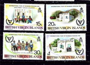 Virgin Is 413-16 MNH 1981 Year of the Disabled
