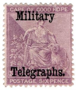 (I.B) Cape of Good Hope : Military Telegraphs 6d