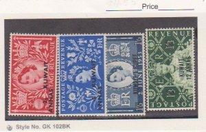 KUWAIT Scott #  213-216 MNH Postage Stamp QEII  fine +