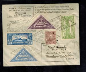 1932 Paraguay Graf Zeppelin Cover to Hamburg Germany LZ 127