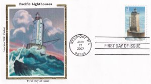 2007, Pacific Lighthouse, Colorano Silk, FDC (E12276)