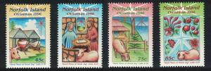 Norfolk Christmas 4v issue 1996 SG#628-631 SC#610-613
