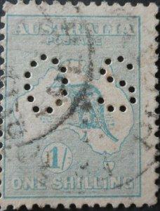 Australia 1913 One Shilling Kangaroo Official SG O25 used