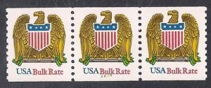 #2603B (10) cents Eagle Plate # coil strip mint OG NH VF