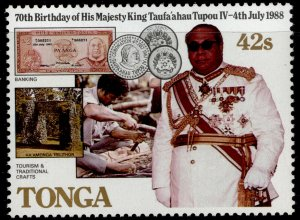 TONGA QEII SG986, 42s banknote, coins, NH MINT.