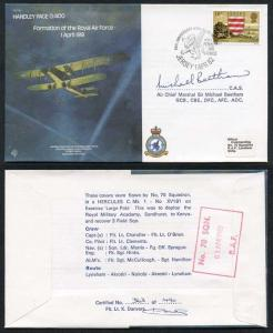 B4c Formation of the RAF 1 April 1918 Signed by Sir Michael Beetham (I)