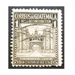 GUATEMALA 1942 POSTAL TAX  STAMP SCOTT # RA20. USED.