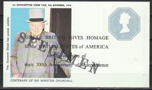 Great Britain, 1974 issue. Sir Winston Churchill on Postal Valid sheet. Specimen