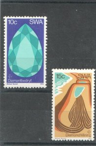 1974 SOUTH WEST AFRICA  -  SG:267/68  -  DIAMOND MINING  -  UNMOUNTED MINT