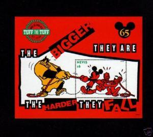 NEVIS - 1994 - DISNEY - MICKEY MOUSE - TUFF - TUG OF WAR - MINT - MNH S/SHEET!