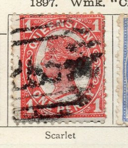 Queensland 1897 Early Issue Fine Used 1d. NW-113703