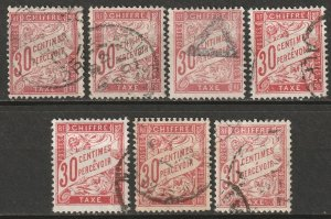 France 1894 Sc J34 postage due selection used