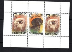 Surinam 1976  MNH  child welfare   pet dogs  sheet