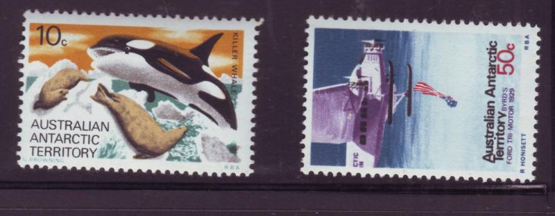 J16475 JLstamps 1973 AAT australia parts of set mnh #L28, 34 antarctic