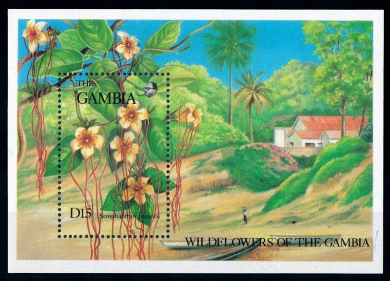 [67109] Gambia 1987 Flora Flowers Blumen Souvenir Sheet MNH