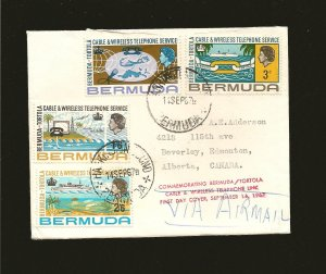 Bermuda 214-217 Telephone Link 1967 First Day Cover