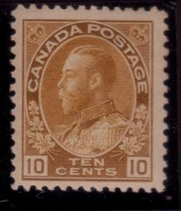 CANADA 1922 GV 10c fine mint lightly hinged................................43853