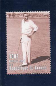 Guinea 1998 YT# 1193  Frank Sinatra playing GOLF  (1) Single Perforated MNH