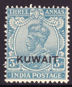 1929 - 1937 British Kuwait KGV 3 Anna issue MNH Sc# 24 Wmk 196 CV $9.00