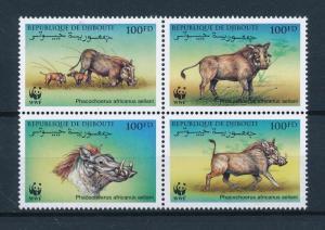 [53981] Djibouti 2000 Wild animals Mammals WWF Warthog MNH