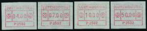Luxembourg Frama Labels P2502 MNH 4 values 1983