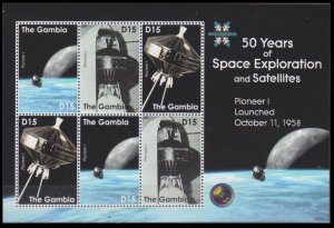 2008 Gambia 5955-57KL 50 years of the launch of the Pioneer I satellite 8,00 €