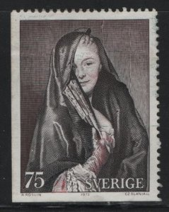 SWEDEN, 945,  USED, 1972, Lady with veil