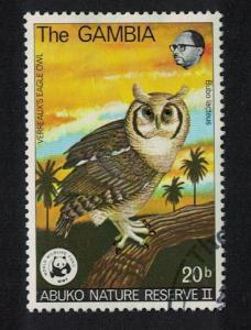 Gambia WWF Eagle Owl Birds 1v canc SG#400 MI#374 SC#381