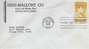 969 3c GOLD STAR MOTHERS 1948 - Hess-Mallory Co.