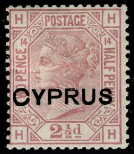 CYPRUS SG3, 2½d rosy mauve PLATE 14, M MINT.