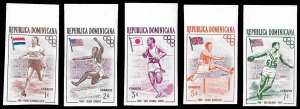 Dom Rep SC 474-478 * Olympic Winners * MNH * Imperf * 1957