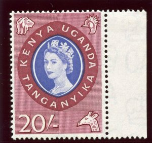 K.U.T. 1960 QEII 20s violet-blue & lake superb MNH. SG 198. Sc 135.