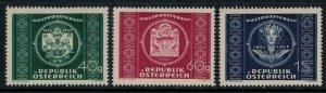 Austria #565-7*  CV $16.00  Universal Postal Union set