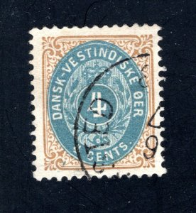 Danish West Indies #18,  VF,  Used  CV $11.00 ....1630016