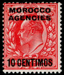 MOROCCO AGENCIES SG113, 10c on 1d scarlet, LH MINT. Cat £21.