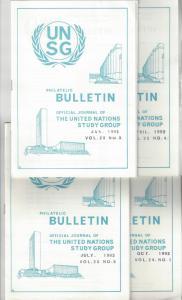 United Nations UNSG Philatelic Bulletin, Vol 23/24 1992  4 Dif editions
