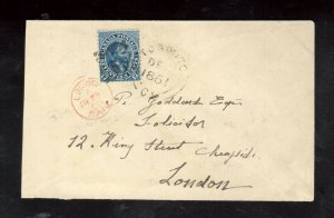 Canada #19 Used On Clean Cover To London *Read Description For Journey Info*