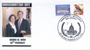 Bush Inaugural cover Noble Catalog number GWB-001