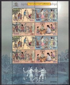 STAMP STATION PERTH Indonesia #2001 TRADITIONAL CHILD GAME - MINIATURE SHEET MNH