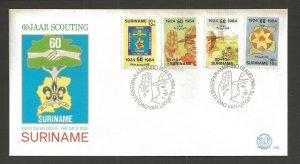 1984 Surinam 60th anniversary Boy Scouts FDC