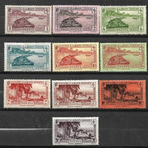 COLLECTION LOT #714 GABON 10 MH STAMPS 1932+ CV+$149 2 SCAN
