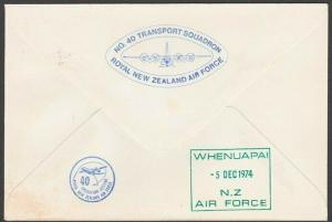 NEW ZEALAND ANTARCTIC 1978 RNZAF signed flight cover ex Scott Base.........27806